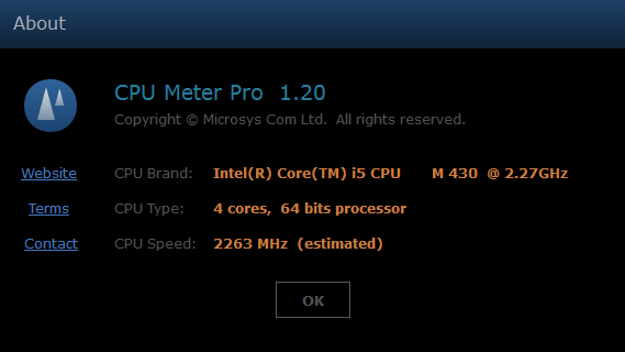 CPU Meter Pro - Processor Data